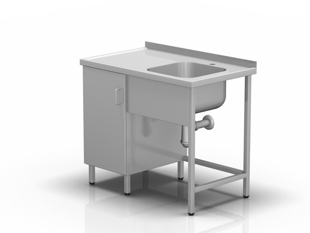 Stół roboczy z komorą i szafką
