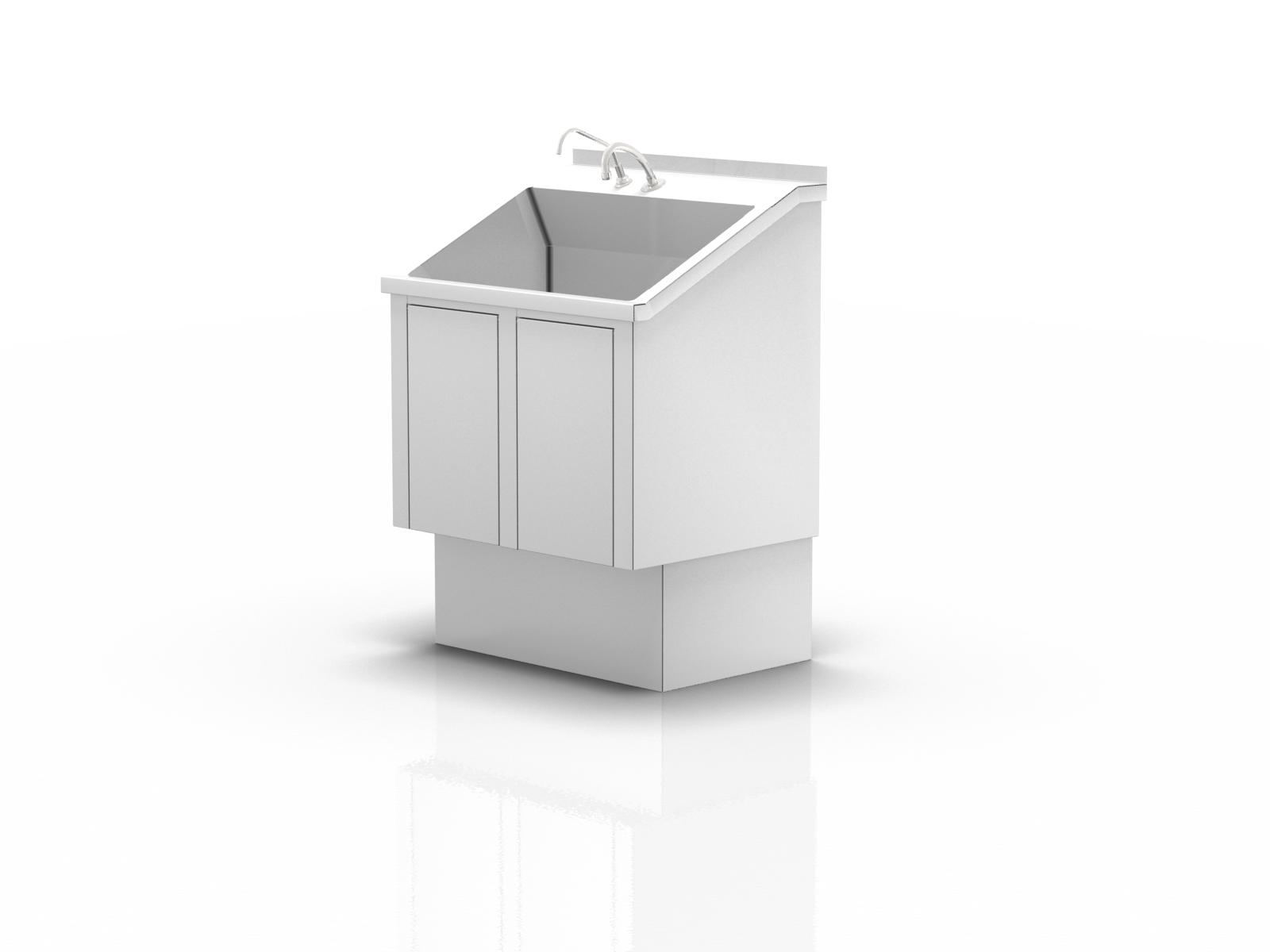 Myjnia chirurgiczna jednostanowiskowa z kolanowym podajnikiem mydła i wody